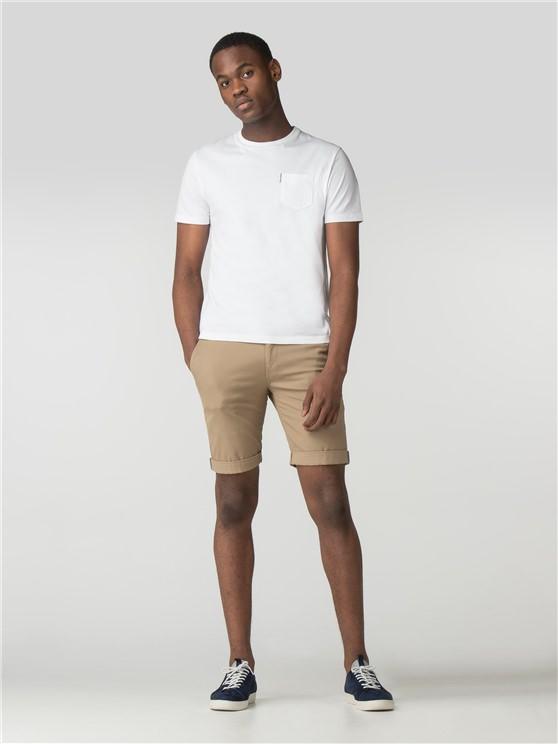 Stone Beige Chino Shorts