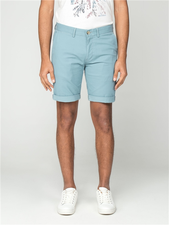 Teal Blue Chino Shorts