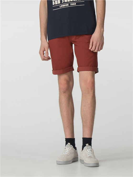 Brick Red Chino Shorts