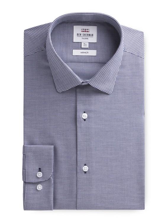 Long Sleeve Puppytooth Formal Shirt