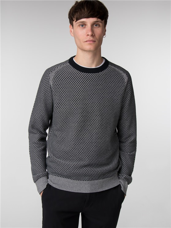 THE TEXTURED KNIT CREW NECK