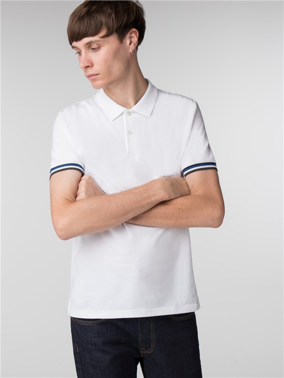 THE SHARP FABRIC MIX COLLAR POLO