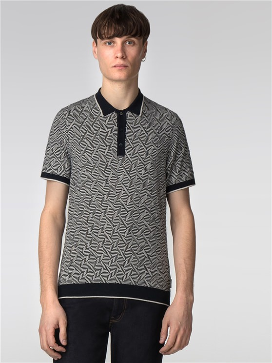 Distorted Argyle Polo Knit