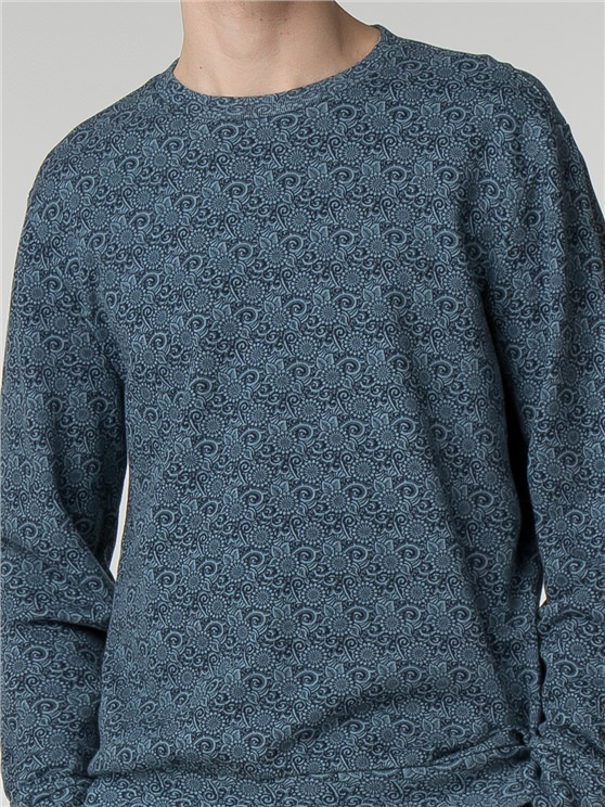 Tonal Floral Print Sweat