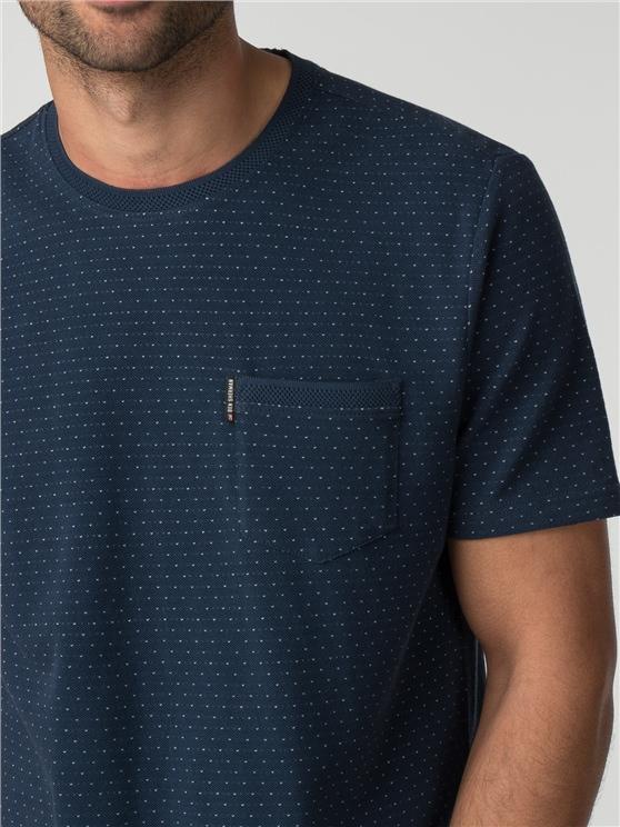 The Pindot Jacquard Pique T-Shirt