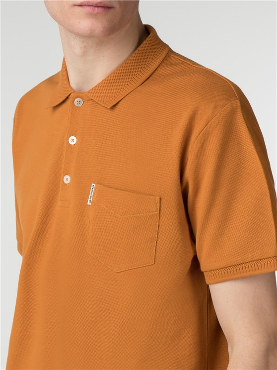 Honeycomb Jacquard Collar Polo