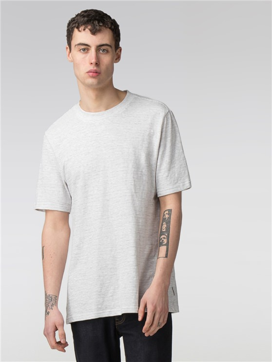 The Semi Plain Jacquard Slub Jersey T-Shirt