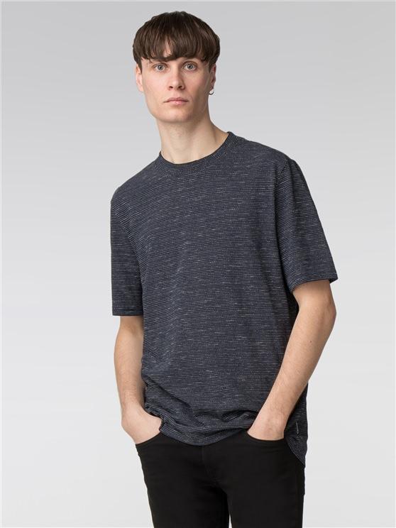 Semi Plain Jacquard Slub Jersey T-Shirt