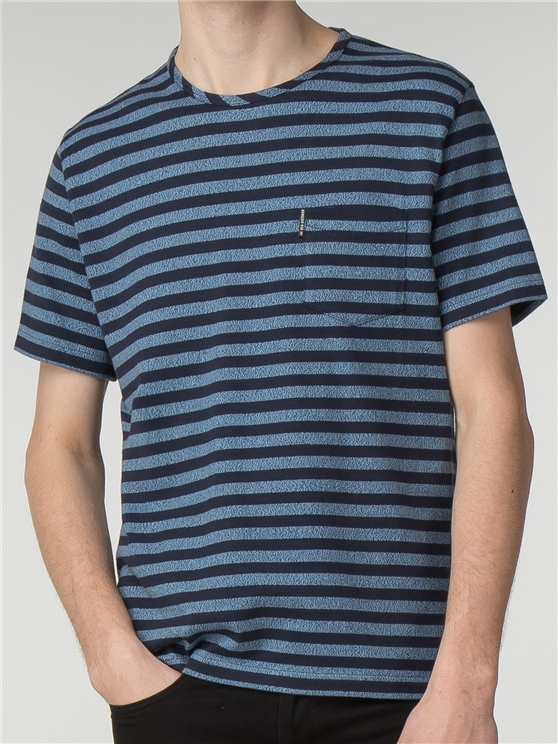 Twisted Yarn Stripe T-Shirt
