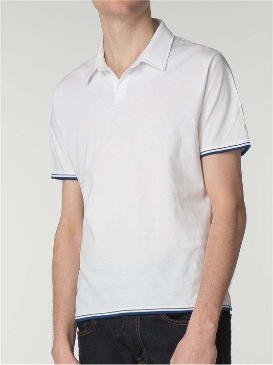 Engineered Tipping Resort Collar Polo