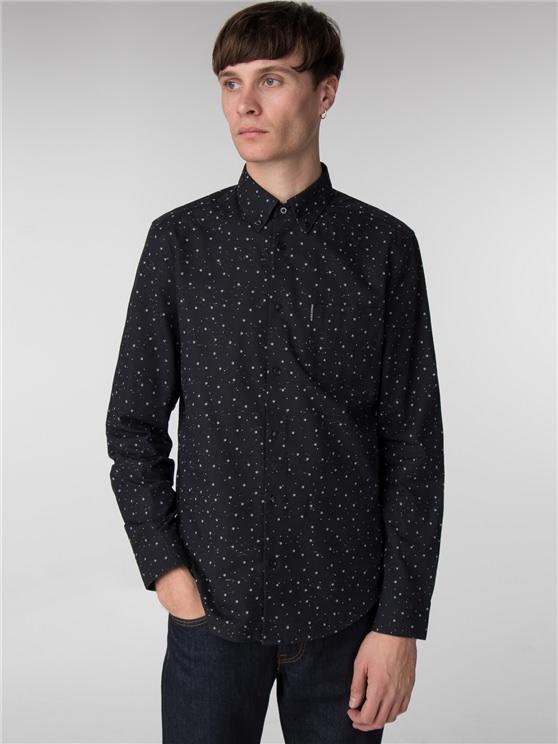 Long Sleeve Slub Stripe Spot Shirt- currently unavailable