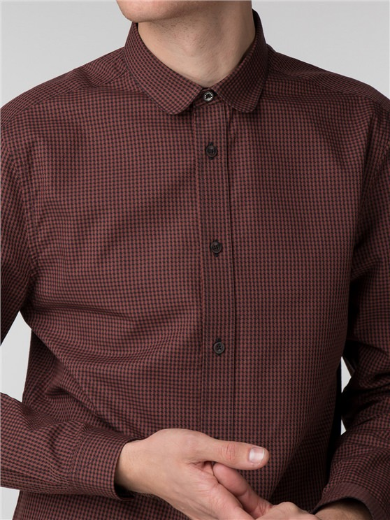 Long Sleeve Marl Micro Gingham Shirt- currently unavailable