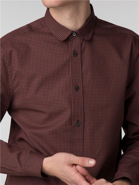 Long Sleeve Marl Micro Gingham Shirt