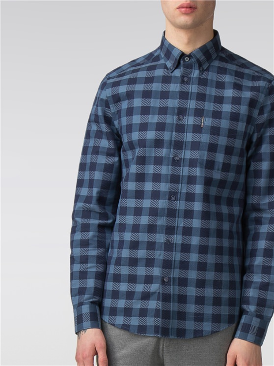 Long Sleeve Texture Check Shirt- currently unavailable