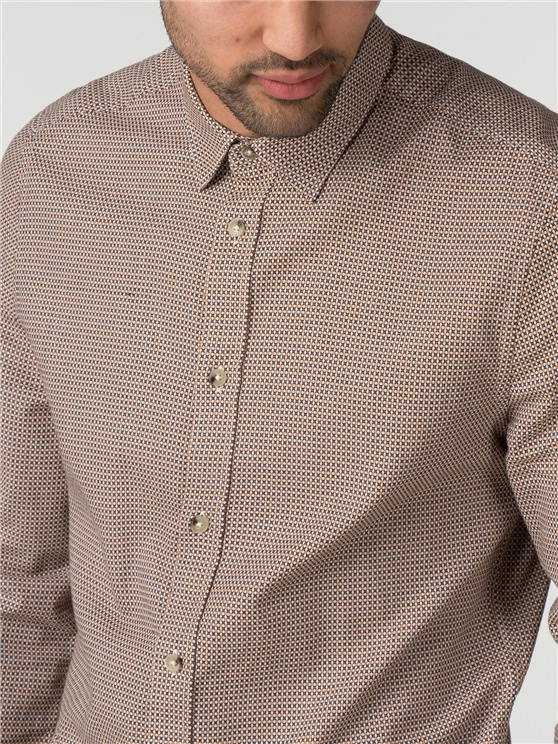 Long Sleeve Texture Geo Shirt- currently unavailable