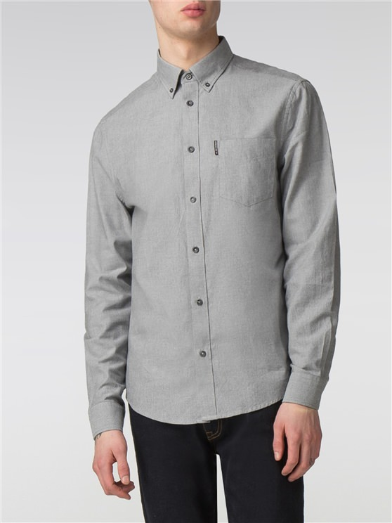 Long Sleeve Marl Oxford Shirt- currently unavailable