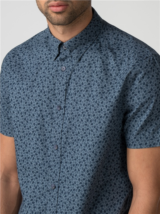 Short Sleeve Micro Paisley Shirt- currently unavailable