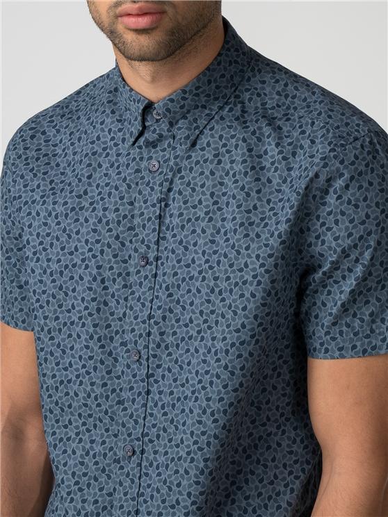 Short Sleeve Micro Paisley Shirt