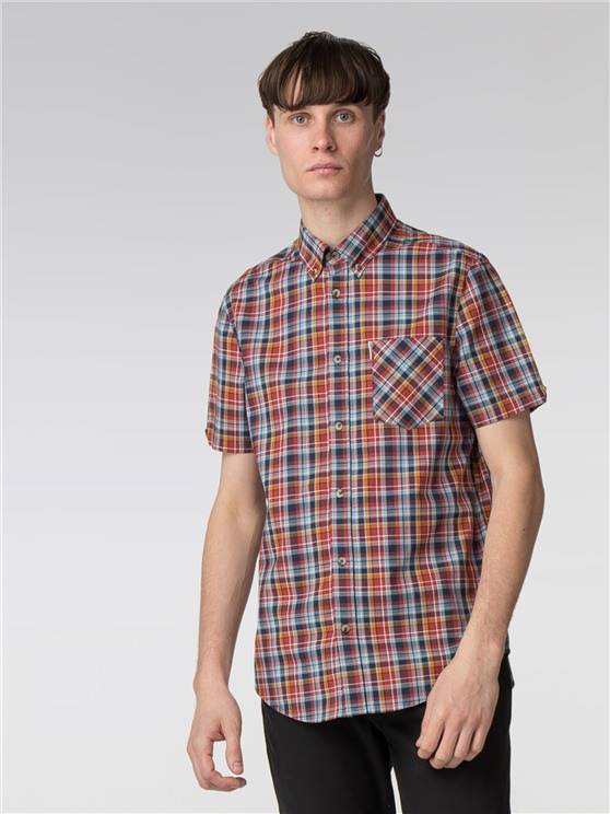 Short Sleeve Multicolour Check Shirt