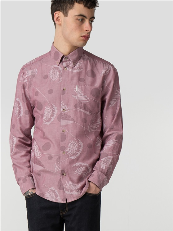 Long Sleeve Tropical Spot Shirt- currently unavailable