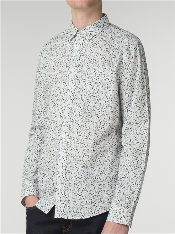 Long Sleeve Micro Floral Shirt