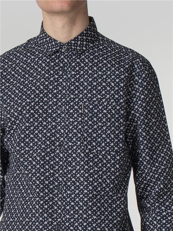 Long Shirt Vintage Floral Shirt