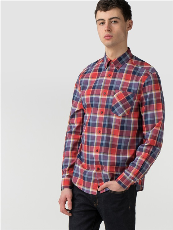 Long Shirt Summer Check Shirt