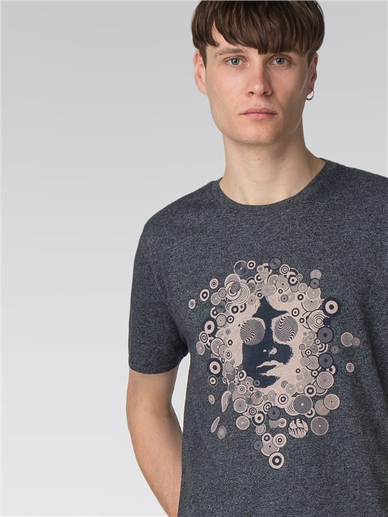 Grindle Circle Man Graphic Print T-Shirt