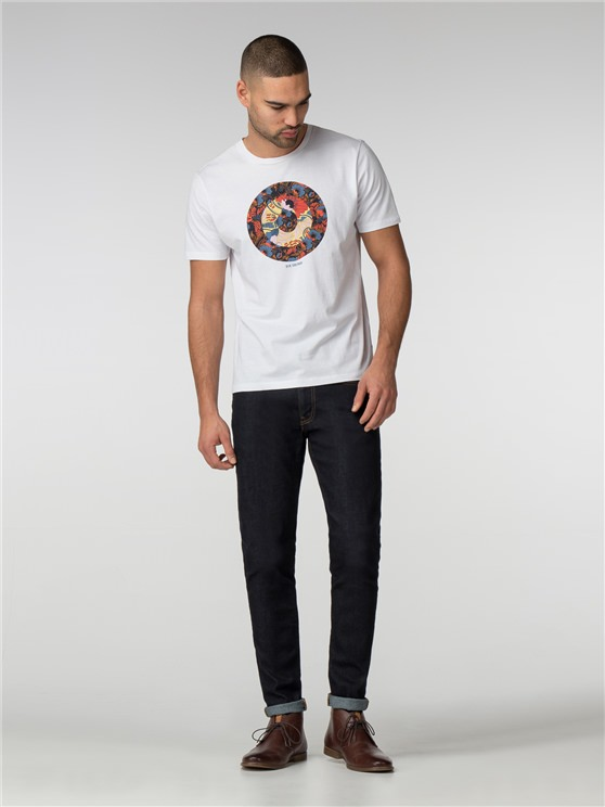 White Hero Target T-Shirt
