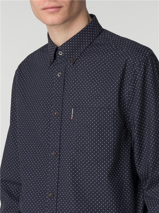 Long Sleeve Marl Spot Shirt