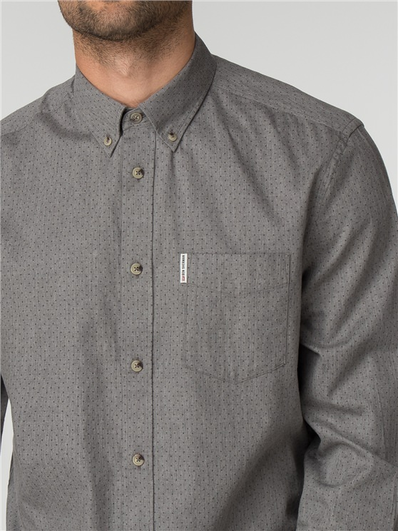 Long Sleeve Marl Spot Shirt- currently unavailable