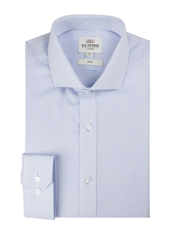 LS ALL OVER TEXTURE FORMAL SHIRT