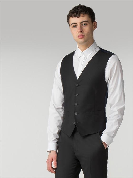 Black Twill Camden Fit Waistcoat
