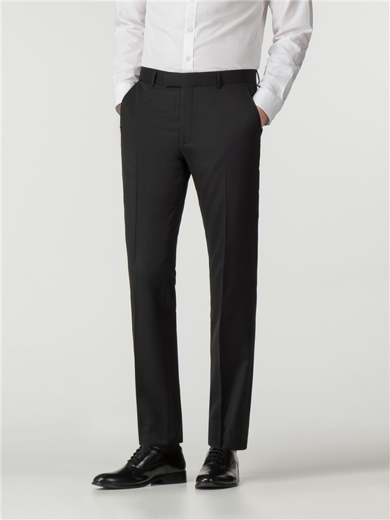 Jet Black Twill Camden Fit Suit Trousers