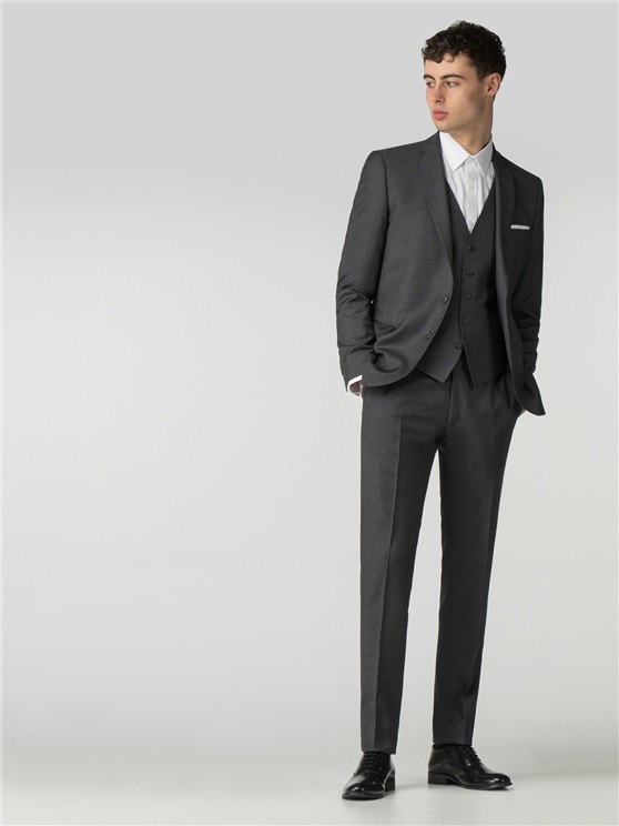Smoked Pearl Twill Camden Fit Three Piece Suit