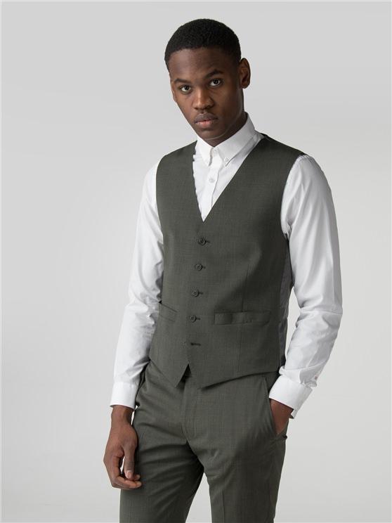 Sage Green Tonic Camden Fit Waistcoat