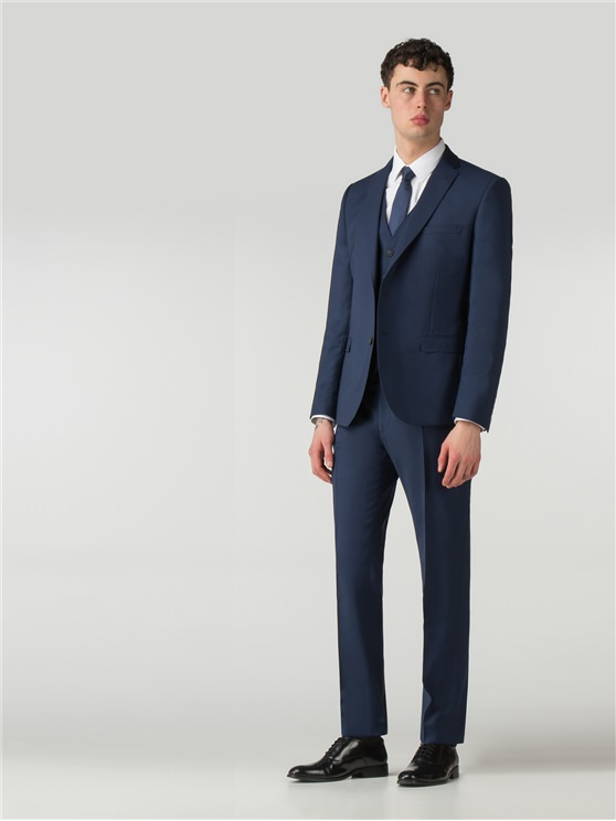 Deep Blue Tonic Camden Fit Three Piece Suit