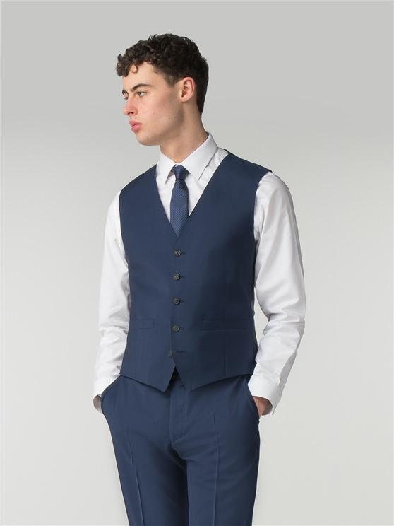 Deep Blue Tonic Camden Fit Waistcoat
