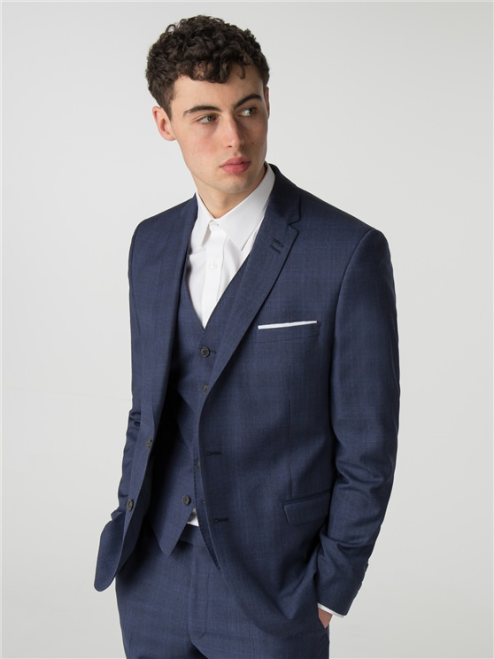 Sapphire Blue Check Camden Fit Jacket