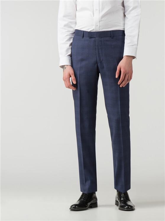 Sapphire Blue Check Camden Fit Trouser