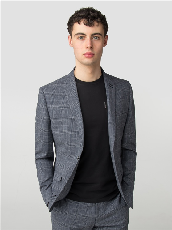 Slate Chambray Check Camden Fit Jacket