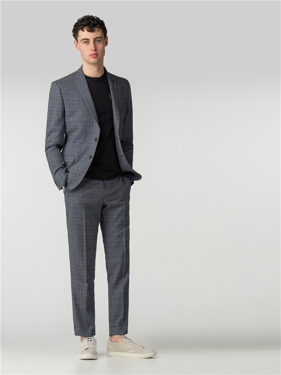 Slate Chambray Check Camden Fit Suit
