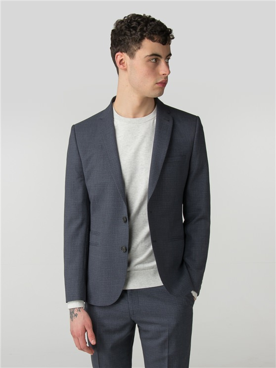 Smoked Grey Crosshatch Camden Fit Jacket