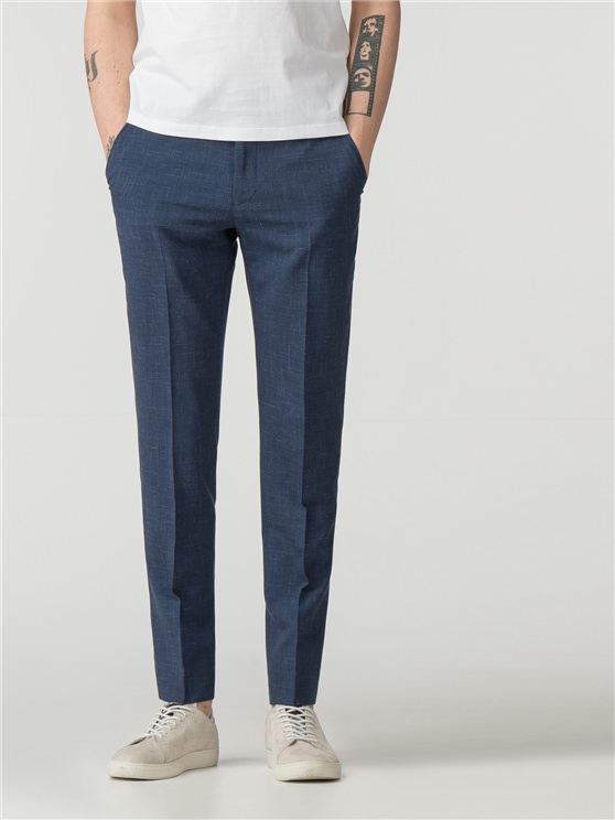 Summer Blue Fleck Camden Fit Trouser
