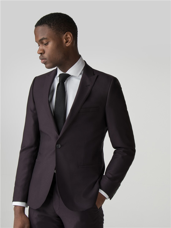 Mulberry Crepe Weave Camden Fit Suit