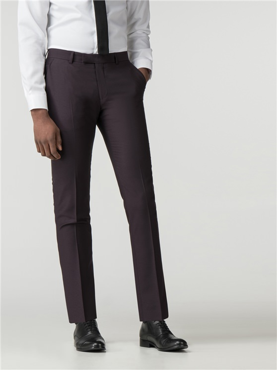 Mulberry Crepe Weave Camden Fit Trouser