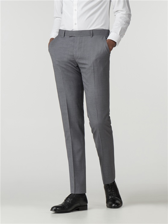 Smoked Grey Blue Micro Camden Fit Trouser