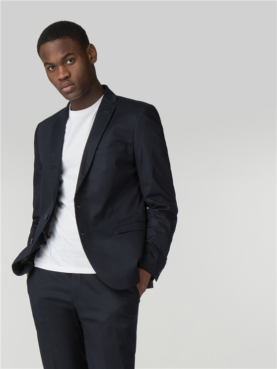 Navy Cotton Camden Fit Blazer