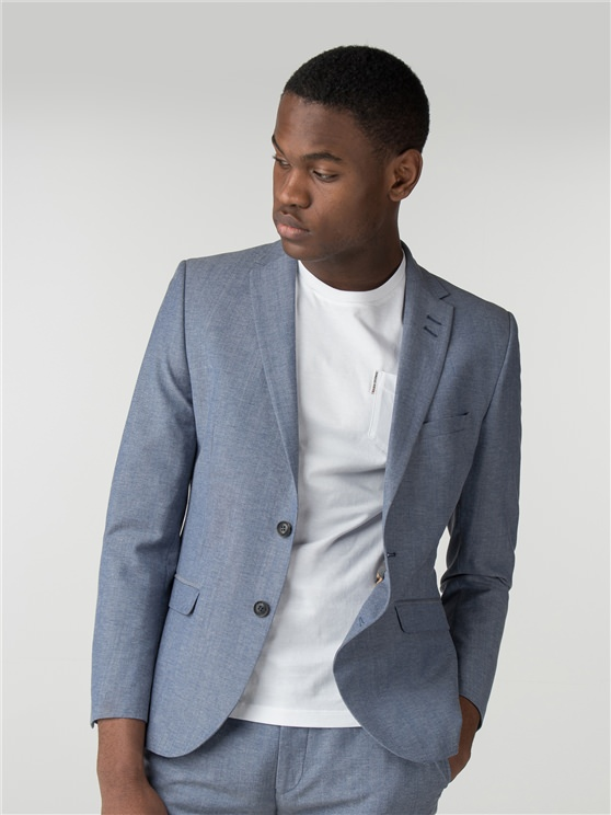 Light Blue Chambray Camden Fit Jacket