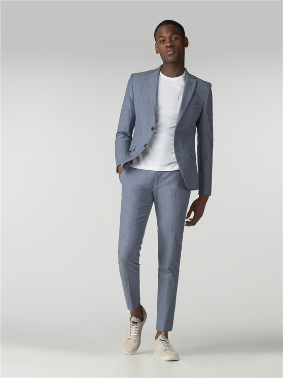 Light Blue Chambray Camden Fit Suit